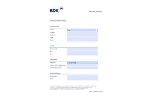 formular nderung bankverbindung pdf 563kb - Nderung Bankverbindung Muster